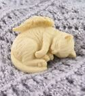 Small Sleeping Kitty Cat Figurine with Wings