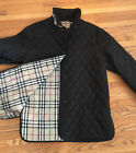 BURBERRY LONDON BLACK QUILTED NOVA CHECK JACKET 100 AUTHENTIC L
