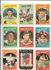 1959 Topps Baseball Lot- 110 Different w 7 Minor Stars & 1 High Number-Low Grade