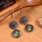 Novelty Steampunk Vintage Switzerland Watch Shaped Gear Dangle Earrings