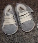SIZE 0 3 MONTHS BABY GAP BRAND CRIB SHOES GRAY NEW WITH TAGS