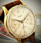 BIG SIZE PIAGET CHRONOGRAPH WATCH IN 18k GOLD PLATED CASE FROM 1960's