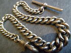 Antique Big Heavy and CHUNKY Graduated Silver Tone Albert Pocket Watch Chain