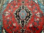 9X7 1940's GORGEOUS AUTHENTIC HAND KNOTTED FINE ANTIQUE WOOL HAMEDAN PERSIAN RUG