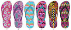 Lot of 72 Pairs Wholesale Womens Printed Flip Flops Sandals Flip Flop Sandal
