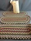 6 Antique Braided Woven Table / Chair Mat Rugs Unused NOS 24