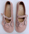 BEAR FEET Girls Rose Leather Flower Mary Janes Shoes Youth Sz 3