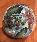 "Josh Simpson Studio Glass Megaplanet 3.8"" Paperweight Signed Dated AS IS"