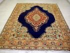 9X7 1940's EXQUISITE MASTERPIECE HAND KNOTTED ROOM SIZE WOOL TABRIZ PERSIAN RUG