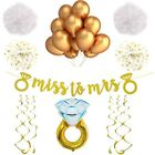 Tiffanys Bridal Shower Bachelorette Party Decorations Gold Miss to Mrs Banner