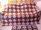 Antique Log Cabin Quilt 76 X 74 early 1900s
