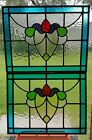 Antique English  Stained Glass Window Pair