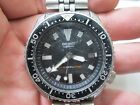 SEIKO AUTOMATIC 150M DIVERS Running MENS DATE STAINLESS CREW BACK WRIST Watch