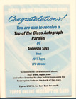 ANDERSON SILVA 2017 TOPPS UFC CHROME TOP OF THE CLASS AUTO 5