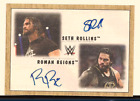 ROMAN REIGNS & SETH ROLLINS 2017 TOPPS WWE HERITAGE DUAL AUTO 10