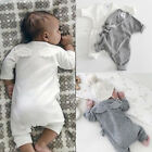 USA Newborn Kids Baby Boy Girl Wings Tops Romper Bodysuit Clothes Outfits Set