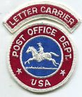 US Post Office Uniform Patch Pony Express  Letter Carrier Tab 1965 1970