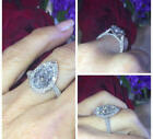 4 Ct 14K White Gold Hollywood Star Engagement Pear Cut Diamond Ring