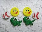 Croc Clog Frog Baseball Smiley Plug Shoe Charms Will Also Fit JibitzCroc C 677