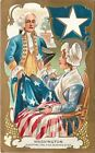 Patriotic Washington  Betsy Ross Adopting the Five Point Star Gold Art Nouveau