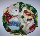 Fitz & Floyd Christmas Cat Decorative Canape / Cookie Plate Kristmas Kitty  FF