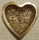 Antique 1920s Floral STIEFF Repousse Heart Dish Sterling Silver 38.7g not scrap