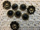 gold glass sewing buttons~1900's~different styles~sizes