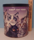 IAMS LARGE CAT FOOD CANISTER TIN 11 Breeds Pictured Good Condition