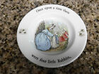 Wedgwood Peter Rabbit Beatrix Potter Childs Miniature Plate Made in England