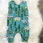 Newborn Baby Boy Girl Cotton Romper Bodysuit Sleeveless Clothes Sunsuit Outfit
