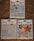 NEW BASIC GREY RUB ON Stickers 5 sheets ea  Embellishments for Scrapbooking