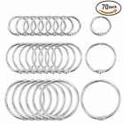 70 Pieces Book Rings Loose Leaf Binder Ring Key Chain Key Rings 3 Sizes