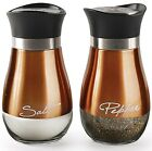 Cafe Contemporary Copper and Glass Salt and Pepper Shakers Set of 2