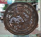 old China antique huanghuali wood carving peony flower Phoenix bird Plate screen