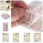 4 Sheets 32pcs Deco Craft Stamp Stickers Diary Sticker Scrapbooking WB