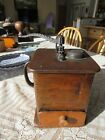 PRIMITIVE 1800s TALL COFFEE GRINDER BOX MILL ARCADE  OR OTHER MAKER