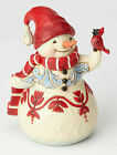 Enesco Jim Shore Heartwood Creek Pint Sized Snowman with Cardinal New 4058803