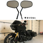 Tapered Black Motorcycle Side Mirrors For Harley Touring Road Glide 1998 2017 US