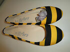 Womens Yellow  Black LILLY BEE University Flats Shoes Sz 7 New in Bag
