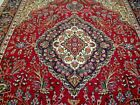 8X11 1940's EXQUISITE FINE HAND KNOTTED ANTIQUE TREE OF LIFE TABRIZ PERSIAN RUG