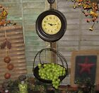 Primitive Antique Vtg Style General Store Hanging Produce Scale Clock Gift Idea