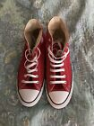 CONVERSE Chuck Taylor All Star High Top Canvas Shoes RED 105 with box