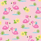 Fabric Baby Flamingo Pink on Pink Flannel by the 1 4 yard