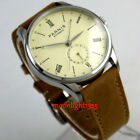 42mm Parnis Light Yellow dial 24 Hours seagull Automatic Movement Mens Watch P95