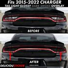 2015 2016 17 2018 Dodge CHARGER Tail Light SMOKE Rear PreCut Tint Overlay Vinyl