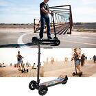Folding Kick Scooter with Seat 3 Wheel Electric Scooter Skate Scooter Skateboard
