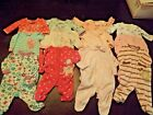 12 Baby Girl Newborn NB Sleeper Lot Clothes