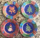 Set of 4 Salad Plates, Mix and Match Potpourri, Sango, Sue Zipkin - XLNT