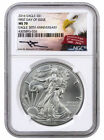2016 Silver Eagle NGC MS70 First Day of Issue MERCANTI Signed 30th Anniversary