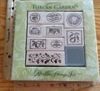 NEW ALL NIGHT MEDIA ITALIAN TUSCAN GARDEN WOOD UNMOUNTED RUBBER STAMP SET OF 9